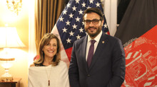 Ellen B. Kagen Receives The Initiative's 2018 Appreciation Award at Embassy of Afghanistan