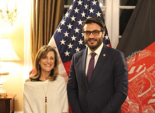 Ellen B. Kagen Receives The Initiative's 2018 Appreciation Award at Embassy of Afghanistan