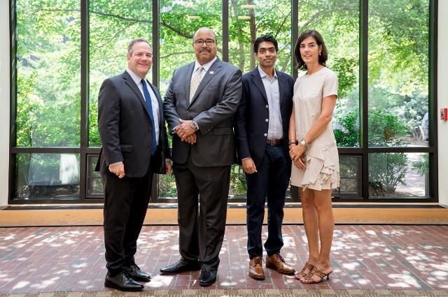From left, Tom Gorman; Brian Radliffe; Irshad Mecc; Priscilla Billings Johnson Wong (Photo - Caitlin Cunningham)
