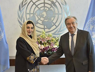 Adela Raz Presents Credentials to UN Secretary-General on International Women's Day