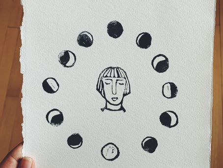 lunar being ◑ //how my relationship to my cycle grew over time