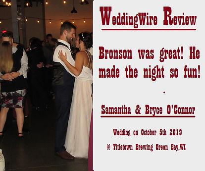 Bryce & Samantha O'Connor 10.5.2019 Titl