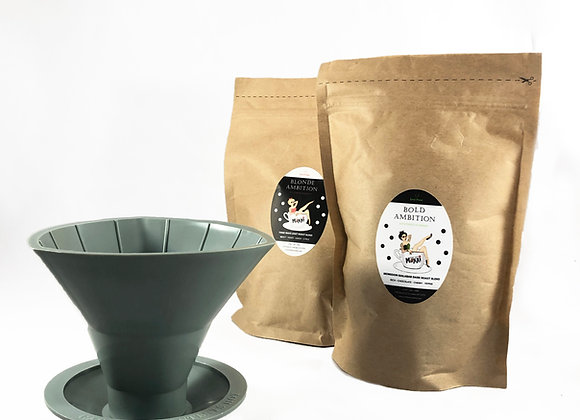 Single Serve- Prefilled Filters of Moxxi Coffee by Just Pour
