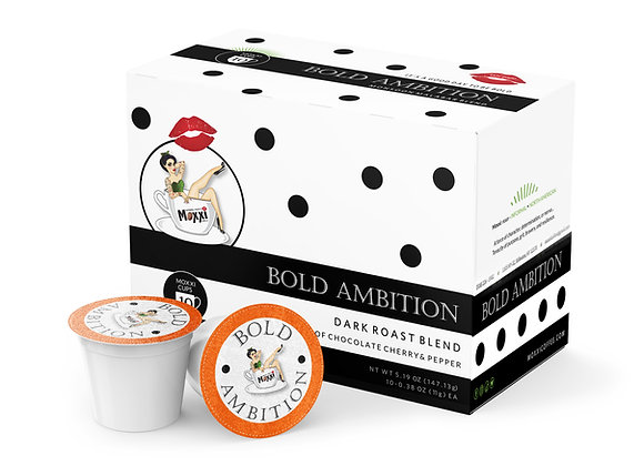 CASE  Bold Ambition (10)  10 count boxes Moxxi Cups