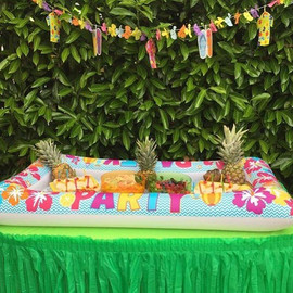 Luau🏝 party cold food bar 🥗🍉🍍excelle