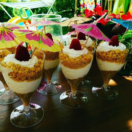 Tropical beach desserts 🏝#luau #luaupar