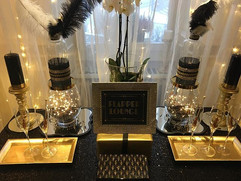 A close up of The Flapper Lounge 🥂🖤 be