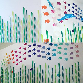 This enormous (3x5m) shoal of colorful f