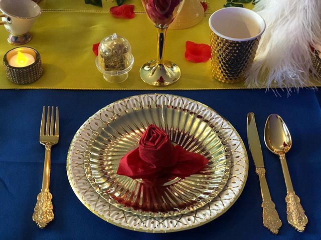 Beauty and The Beast 🌹 Table Setting #b