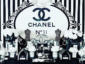 Chanel N31 themed Birthday Party 🖤#chan