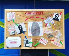 Detective case board🔍  #caseboard #evid