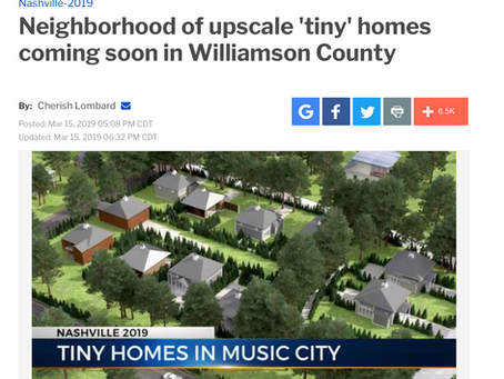 """Smarter Living Homes Debuts """"Tiny Homes"""" on Permanent Foundations on WKRN News 2"""