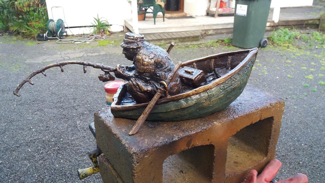 The Gravy Boat, bronze edition. approx 14x25cm