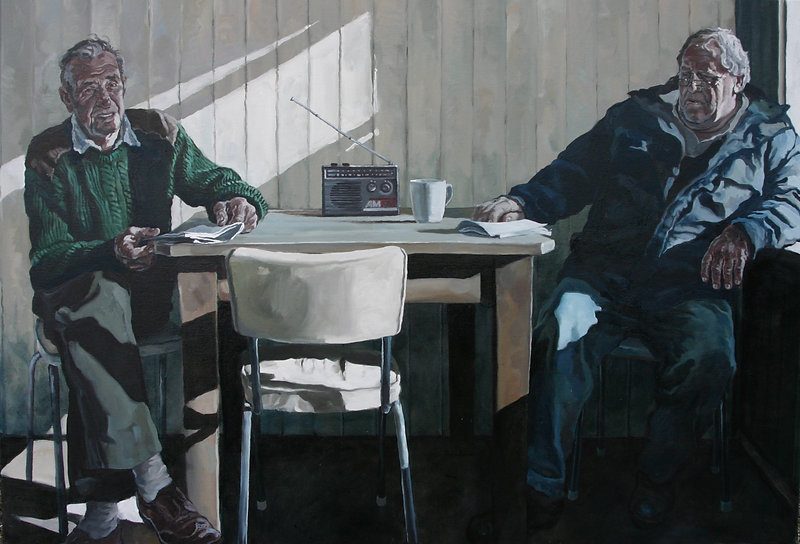 Quickdraw and Boomer, 2009, oil on Canva