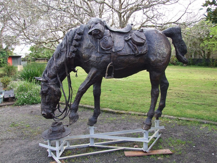 War Horse/ Te Utu, Bronze 2017, Soldiers Memorial park, Hamilton City, NZ
