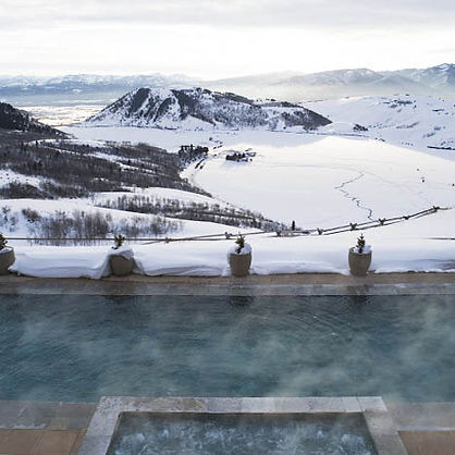 Amangani pool in Winter