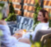 Spa Cerro Rooftop Terrace Women Drinking
