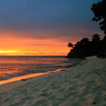 Necker Island at Sunset