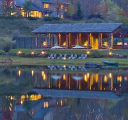 Twin Farms Lake at Night