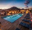 Hotel Cerro Rooftop Pool Deck Evening