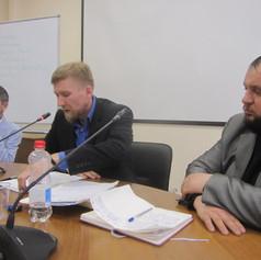 Бондин Д. с докладом на семинаре по примирению в Москве