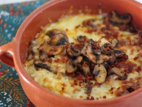 Queso Fundido with Mushrooms and Chorizo