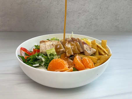 Chinese Chicken Salad with Ginger-Sesame Dressing