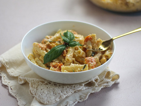 Baked Feta Pasta with Confit Tomatoes