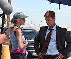 Lisa Robertson, director with actor, Joel Gretsch | COMMERCE