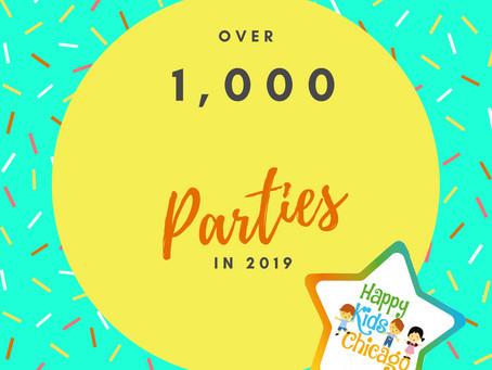Over 1,000 parties in 2019