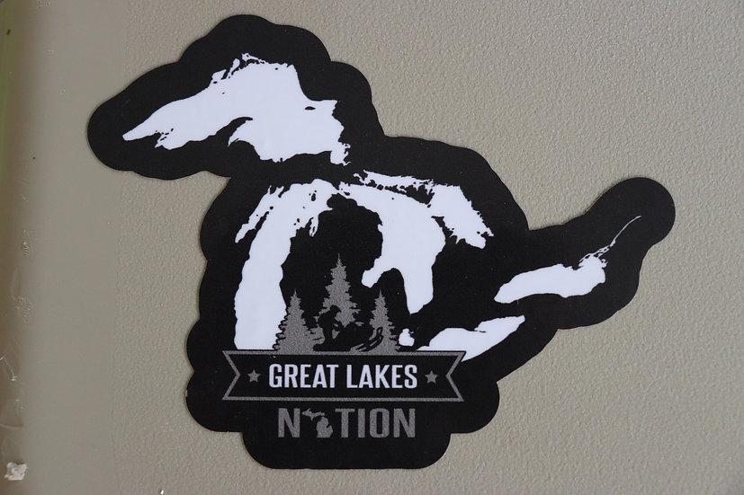 "4"" X 4"" Michigan Sticker"