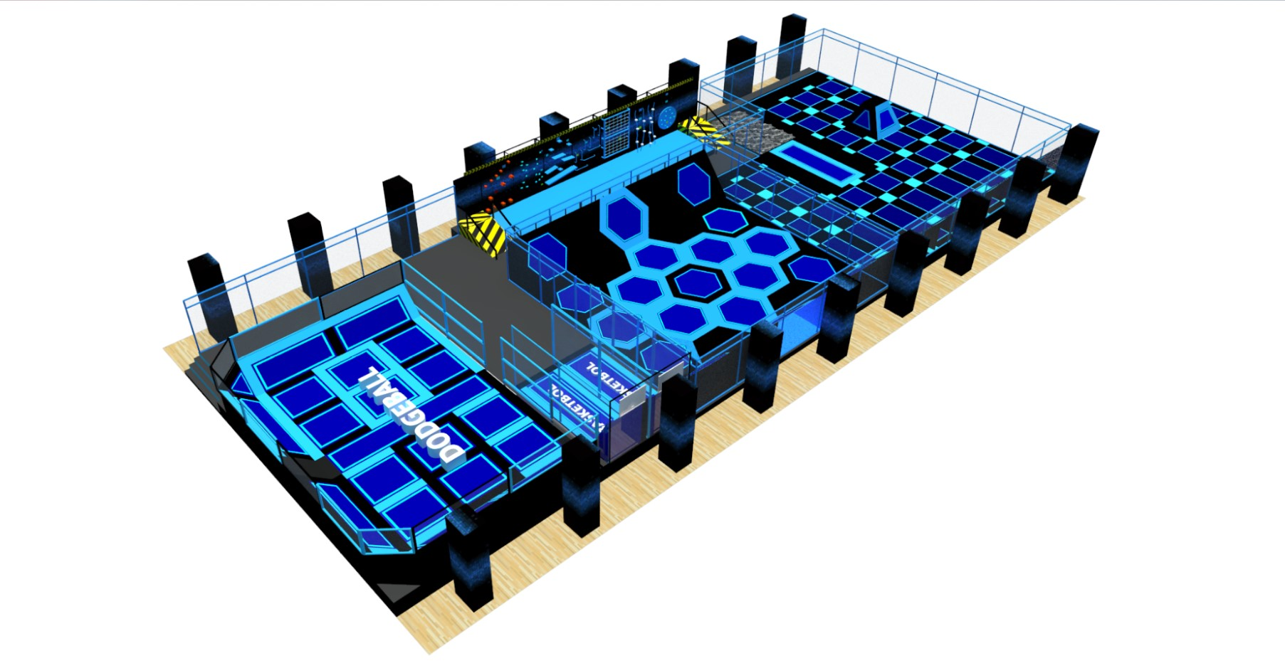 Trampoline Area Design