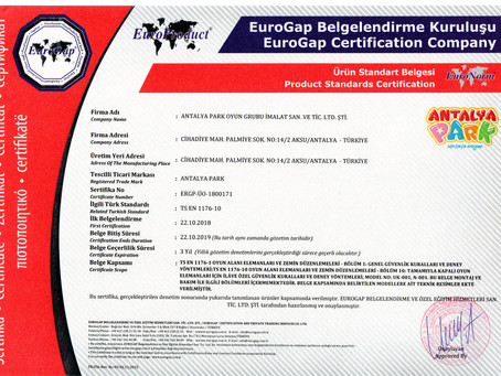 The First Turkish EN-1176 and EN-1177 Certified Company