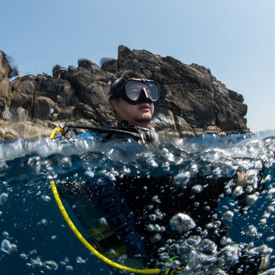 Black Rock and Diver