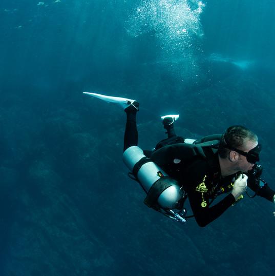 Sidemouth diver in Myanmar