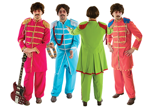 4 Lonely Hearts Club Band costume bundle