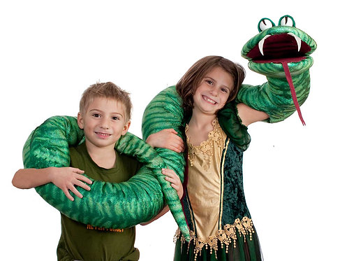 Big Fat Green Snake Arm Puppet