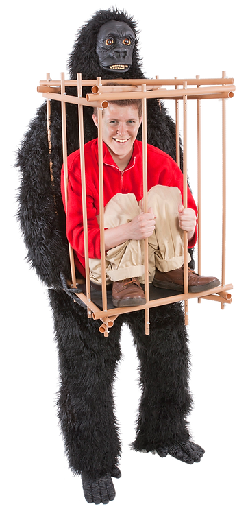 Gorilla & Cage Costume Kit
