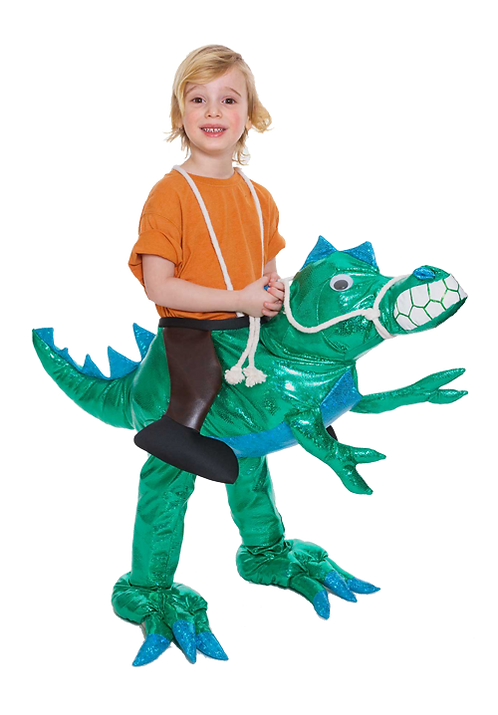 Green Dinosaur Kid's Rider