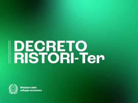 DECRETO RISTORI - TER: MISURE FINANZIARIE URGENTI