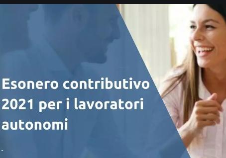 ESONERO CONTRIBUTIVO AI LAVORATORI AUTONOMI E LIBERI PROFESSIONISTI