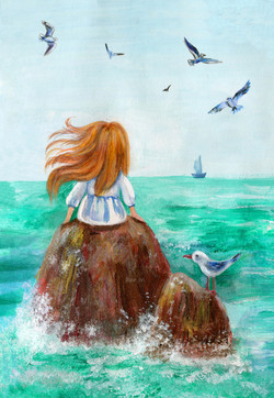 Girl and Sea