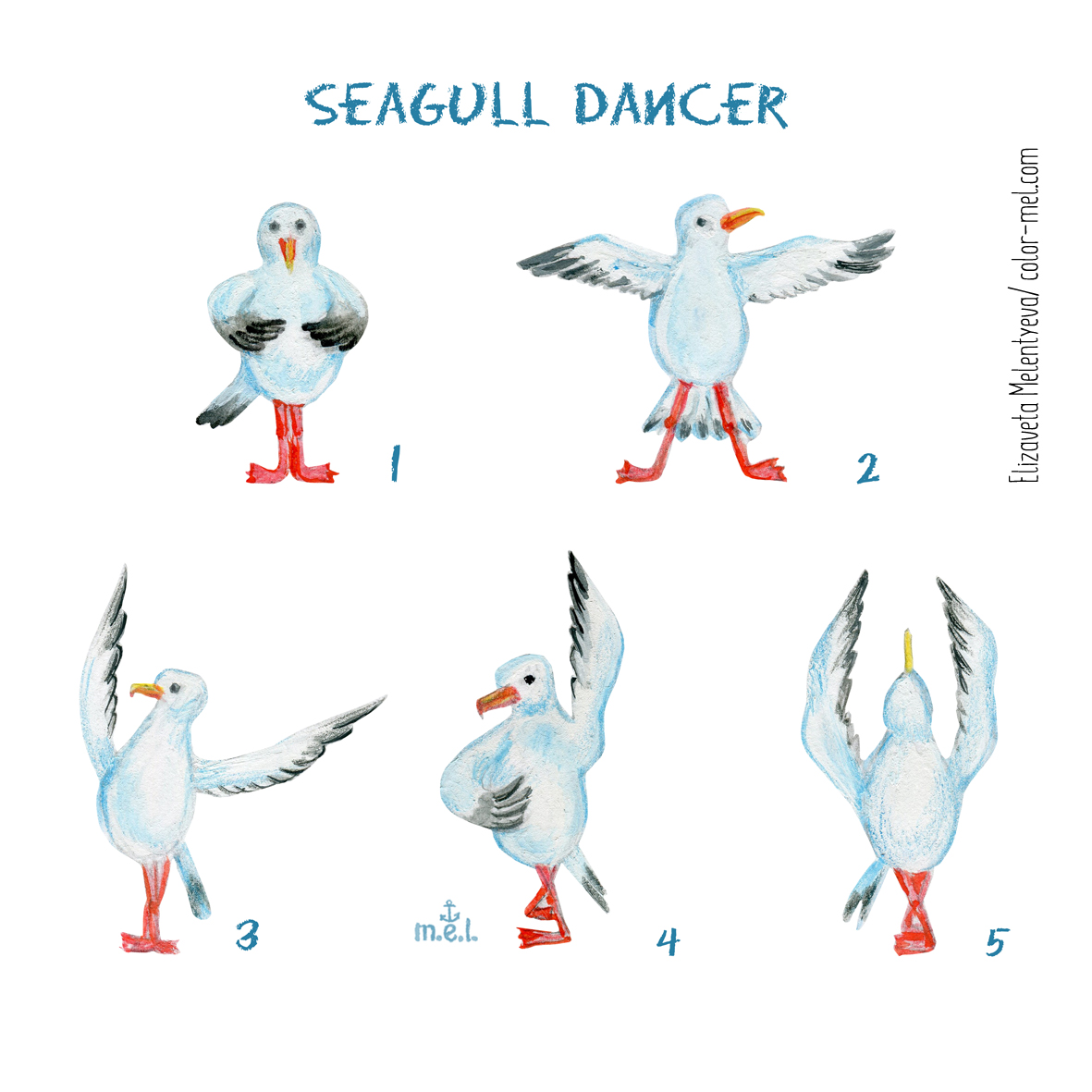 Seagull dancer
