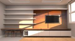 3D marcenaria da Sala de TV