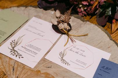 Natural and unique wedding invitations