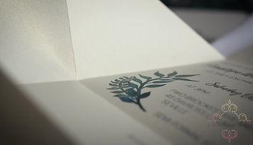 Unique origami wedding invitations