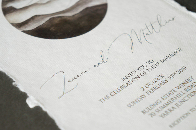 Handmade cotton paper invitations