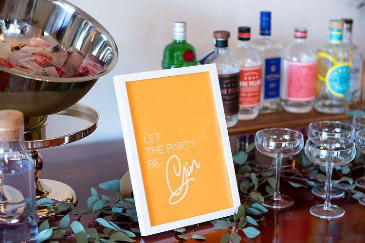 Gin bar signage