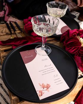 Magnolia menu and place card