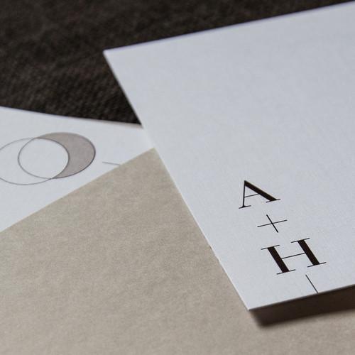 Earthy wedding invitations